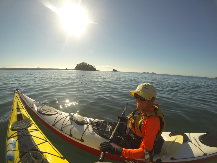 Bronwyn in Valley kayak, Batemans Bay.