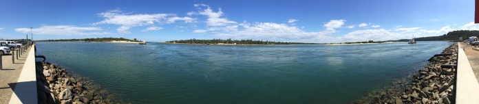 Panorama of lakes Entrance.