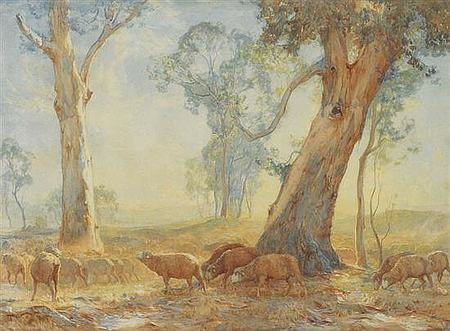 Hans Heysen's watercolour painting of 1910 titled