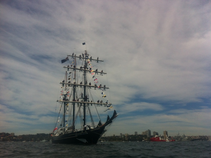 New Zealand tall ship, International Fleet Review, Sydney, October 2013.