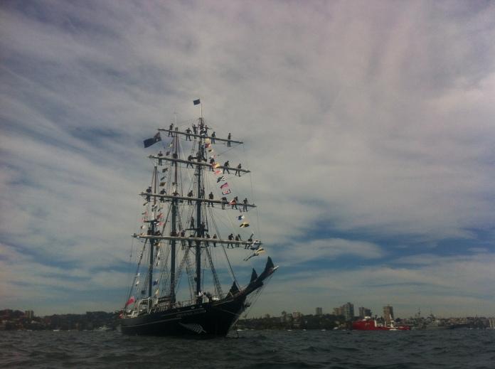 New Zealand tall ship, International Fleet Review, Sydney, October 2013.
